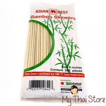 Bamboo Skewers 8 Inches - ASIAN BEST
