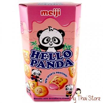 Hello Panda Biscuits With Strawberry Cream - MEIJI