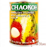 Rambutan Stuffed With Pineapple In Syrup - CHAOKOH