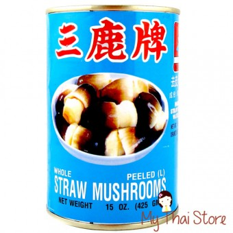 Peeled Straw Mushrooms-DRADONFLY
