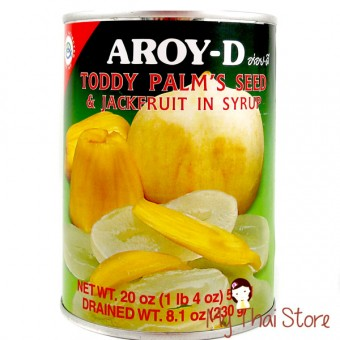 Toddy Palm's Seed and Jack Fruit in Syrup - AROY - D